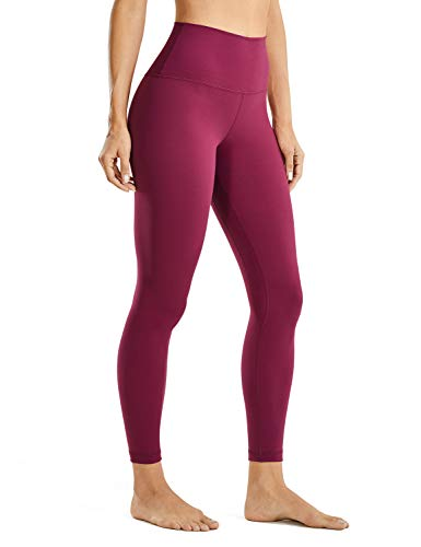 CRZ YOGA Mujer Leggins Cintura Alta Mallas Pantalones de Deporte Fitness -63.5cm Púrpura nebuloso 46