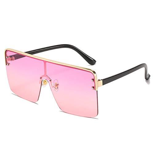 Gafas de Sol Sunglasses Gafas De Sol De Gran Tamaño para Mujer, Azul, Rojo, Púrpura, De Metal, Cuadrado, Gafas De Sol para Hombres, Mujeres, Steampunk, Hombres, Sombra De