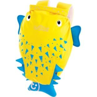 Trunki PaddlePak Spike–Mochila, color amarillo con 1bolsillo exterior y correa de hombro ajustable y acolchada, tamaño (H37, W29, 16cm.).