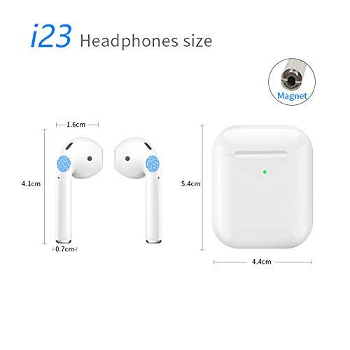 R&T i23 Bluetooth hoofdtelefoon In-ear 5.0 Hi-Fi Bass Noise Cancelling Draadloze oordopjes met microfoon Oplaadbare doos Waterdichte draadloze oordopjes Headset voor iPhone Android Windows