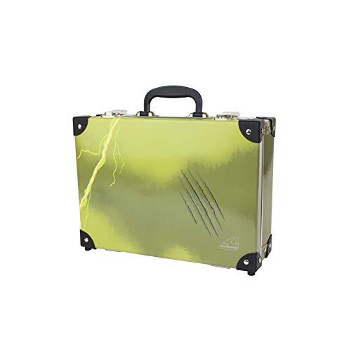 Schneiders 49351-065 - Maleta Infantil con asa y 2 Cierres de Metal, 33 x 24 x 10,5 cm, Color Verde Oliva