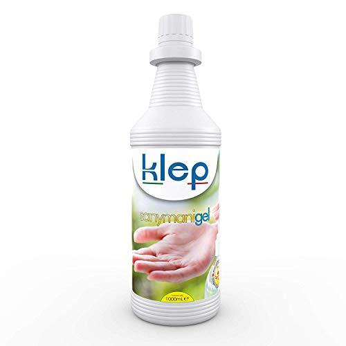 KLEP - Sany Mani Liquido Gel lavamani igienizzante, detergente, sanificante, Antibatterico (GEL, 1LITRO)