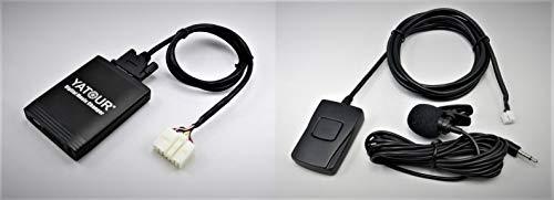 Yatour YT-M06-TOY1-BT Adattatore con interfaccia USB, SD, AUX, MP3 con Bluetooth e vivavoce compatibile con TOYOTA audio
