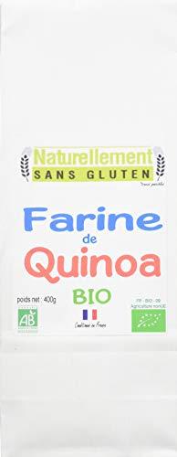 NATURELLEMENT SANS GLUTEN Farine de Quinoa Bio 400 g - Lot de 6