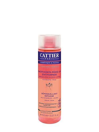 Cattier Zweiphasen-Make-Up-Entferner für empfindliche Haut, zertifizierte Naturkosmetik, 150 ml