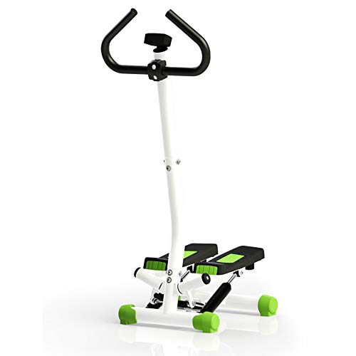 TopJiä Mini Stepper Mit Griffe,up-down-Stepper Swing Stepper,zuhause Kardio Fitnessgerät, Grün