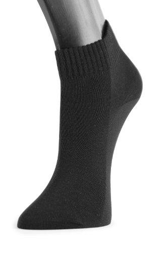 Lindner socks Shorties - Sneaker Quarter Socken, 35-38, schwarz