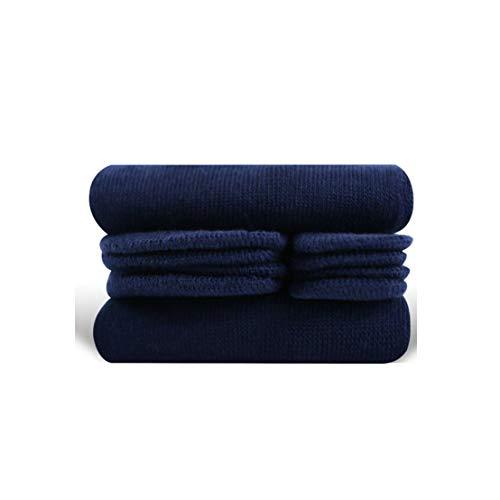 MEIKAN Combed Cotton Japanese Kimono clogs Two Tabi Toe Socks (Pack of 2 pairs) EU35-42 For Women Mens Tabi Flip Flop (Navy Blue, S)