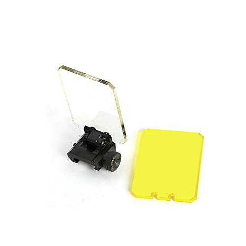 HONESTILL Square Foldable Sight Scope Lens Screen Protector Cover Shield Panel for Airsoft Tactical Scope Red Dot