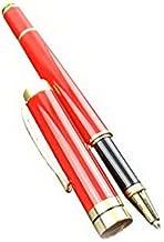 Luxurious Ballpoint Pen for Men,Stainless Steel Retractable Classic Design Golden Trim,Executive Business Pen