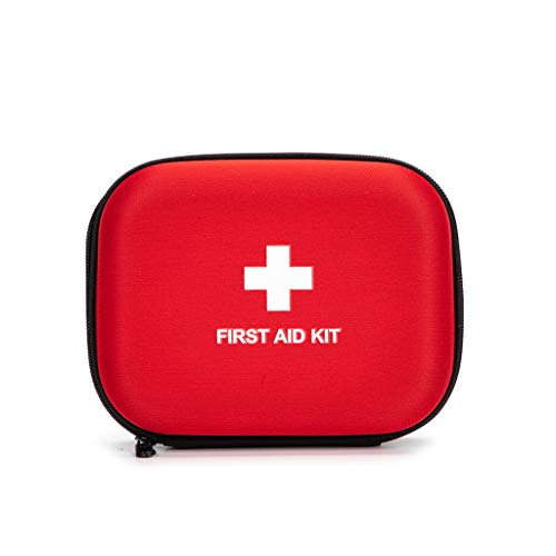 First Aid Hard Case Empty, Jipemtra First Aid Hard Shell Case First Aid EVA Hard Red Medical Bag for Home Health First Emergency Responder Camping Outdoors (6.8x5.3x2.2