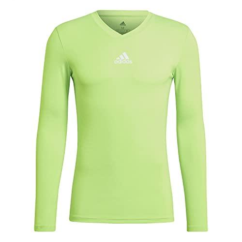 adidas GN7505 Team Base tee Sweatshirt Mens Team Solar Green M