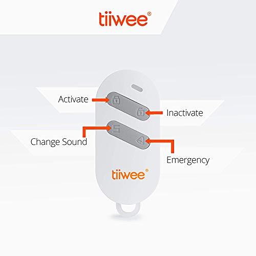 tiiwee X4 Rilevatore di Movimento e Allarme Sirena - Sirena da 120 dB - Anti-Effrazione Sistema di Allarme con 2 Telecomandi e 2 Sensori per Porte Finestre - Espandibile - Sicurezza Casa Garage