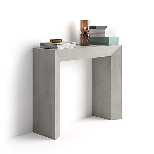 Mobili Fiver, Giuditta Consolle Fissa da Ingresso, Frassino Bianco, Nobilitato, 90x30x75 cm, Made in Italy