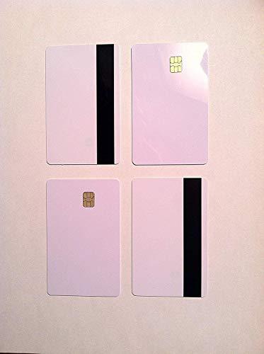 SLE4442 Chip con banda magnética Hi-Co PVC en blanco tarjeta compuesta de PVC para impresora de inyección de tinta Epson / Canon