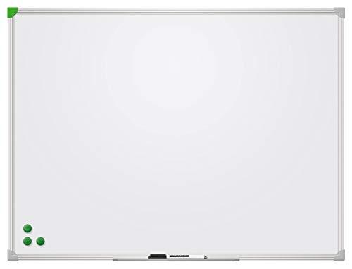 Franken SC916080 Schreibtafel U-Act Line (magnethaftend, Alurahmen mit Ablageleiste, schutzlackiert) 60 x 80 cm, weiß