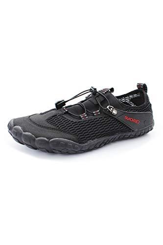 Sundried Frauen Barefoot Laufschuhe Minimalist Neutral Lauf Gymnastik- und Trainingsschuhe (schwarz, Größe 5 UK)