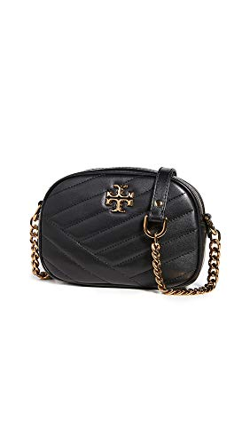 Tory Burch Women's Kira Chevron Small Camera Bag, Black, One Size