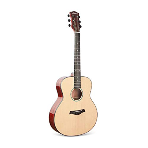 ABMBERTK 36 40 41 inch Cutaway Guitar 6 Strings Glossy Finishing Solid Spruce Acoustic Guitar Wooden Color Guitar,Light Wooden 36inch,40 inches
