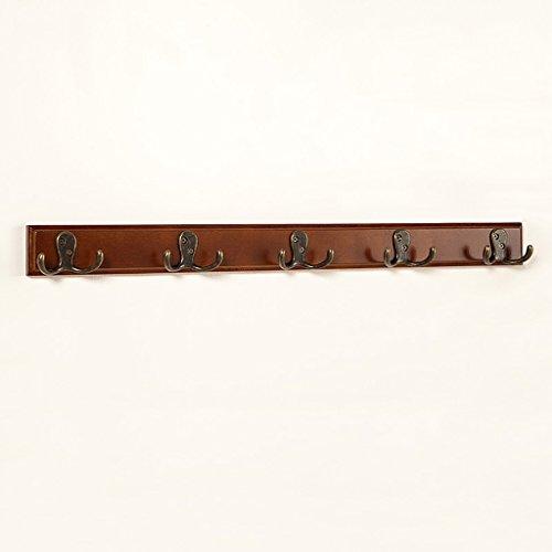 GJymj Wandkapstok, massief hout, metalen haken, kledinghanger, robuuste slaapkamer, woonkamer, multifunctionele antieke garderobe