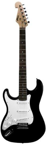 Tiger EGT4-BK elektrische gitaar - linkshandigen - zwart