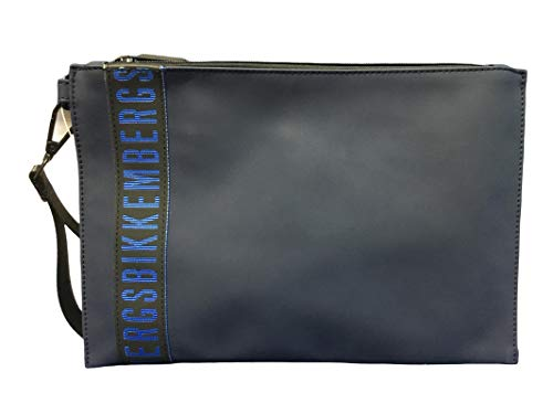 Bikkembergs Bolso de hombre tejido E17009 color azul marino 31 x 21 bolso de hombre casual colección 2021