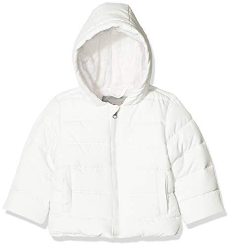 Kanz Unisex Baby Anorak mit Kapuze Jacke, Weiß (Snow White|White 1050), (Herstellergröße: 80)