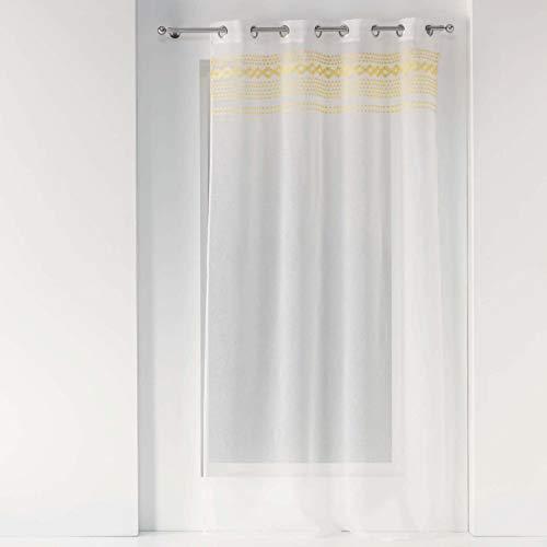 Douceur d'Intérieur VALY VALY VILAGE, poliéster, Amarillo, 140 x 240 cm