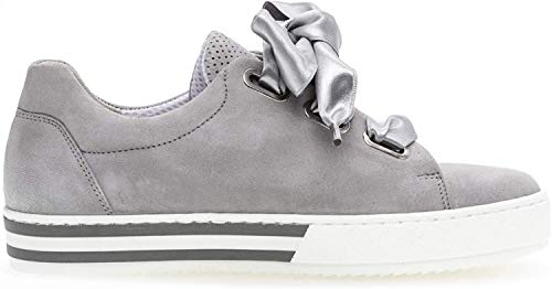 Gabor 26.505 Damen Sneaker,Skater Sneaker, Frauen,Sportschuh,Low-Top,Comfort-Mehrweite,Optifit- Wechselfußbett,Light Grey,6.5 UK