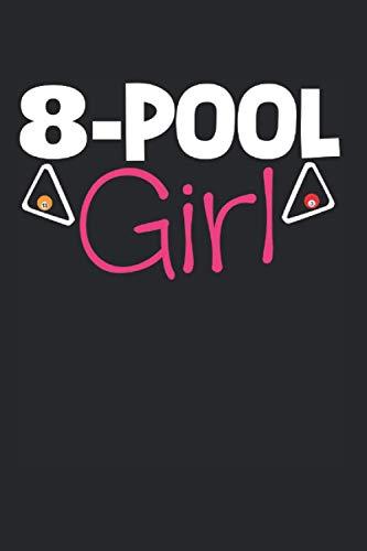 8-Pool Girl: A5 Notizbuch, 120 Seiten blank blanko, 8-Pool Mädchen Pool Billard Billards