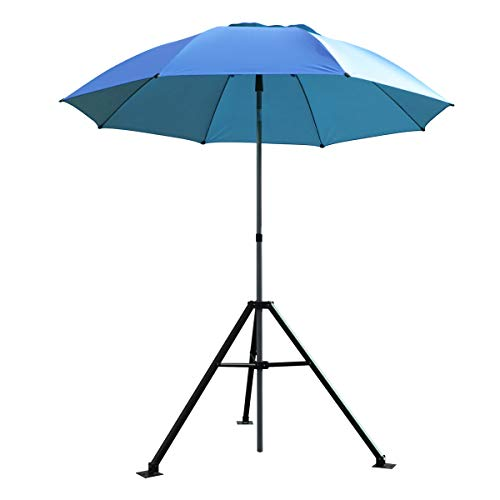Revco Black Stallion Core Flame-Resistant Industrial Umbrella & Stand, Blue