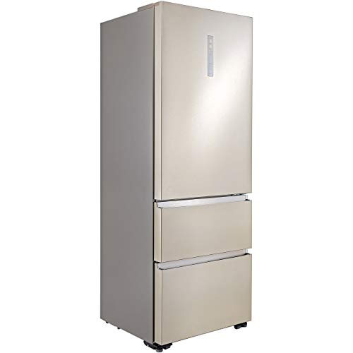 Haier A3FE743CPJ Freestanding American Fridge Freezer, 431L Total Capacity, 70cm wide, Stainless...
