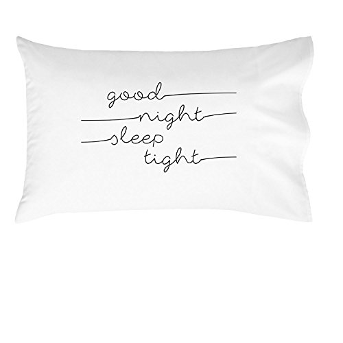 Oh, Susannah Good Night Sleep Tight Kids Pillowcase - (Offset Text) Fun Kids Quote Pillowcase - (1 20x30 Inch Pillowcase Fits Standard Size Pillow) Kids Room Decor