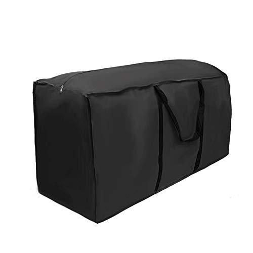 DIYARTS 210D Oxford Tuch Große Garten Aufbewahrungstasche wasserdichte Sitzmöbel Kissen Aufbewahrungstasche Leichte Tasche mit Reißverschluss (122 * 39 * 55cm)
