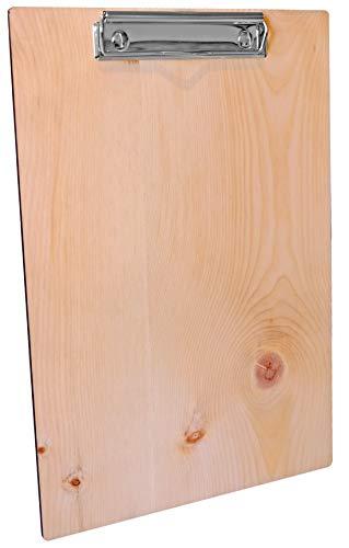 Kaltner Pr/äsente Klemmbrett Holz Nussbaum beschichtet ideal auch als Speisekarte oder Tageskarte f/ür A5 Bl/ätter Abmessung 23 x 16 x 0,5 cm