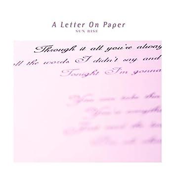 종이에 쓴 편지