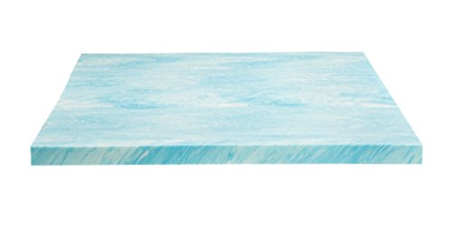 DreamFoam Bedding, 2 Gel Swirl Memory Foam Topper, Made in USA, Queen, Blue