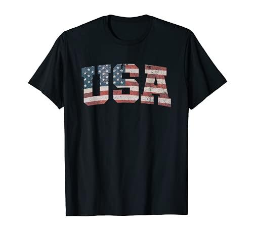 USA US Flag Patriotic 4th of July America T-Shirt