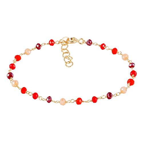 Córdoba Jewels | Pulsera en Plata de Ley 925 con diseño Swarovski Coral Gold