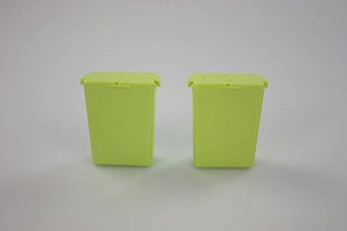 TUPPERWARE (2) Würzling 25 ml To Go Salzstreuer grün C72 Pfeffer/Salz Streuer 30944