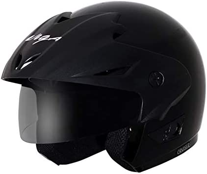 Vega Cruiser CR-W/P-K-M Open Face Helmet (Black, M)