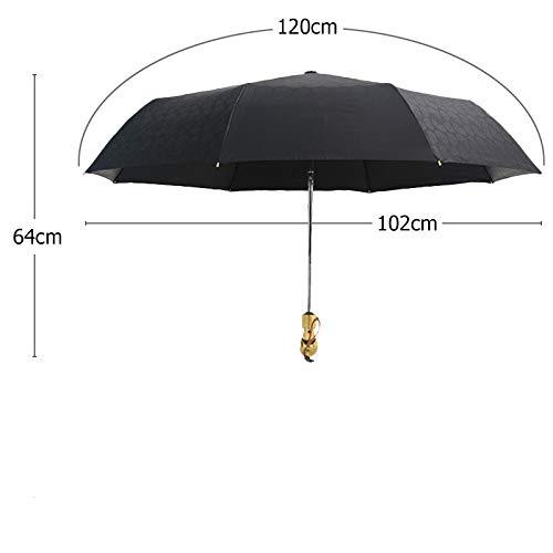 Métal De Style Coupe-Vent Ultra Léger Soleil Pluie Automatique Pluie Parapluie Femelle