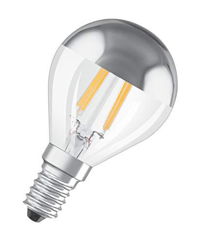 OSRAM Lot de 10 Ampoules LED   Culot E14   Blanc chaud   2700 K   4,50 W équivalent 33 W   clair   LED STAR   Forme sphérique à calotte argentée   Dimmable