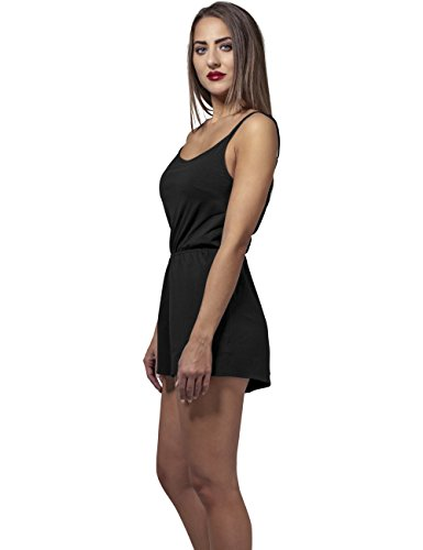 Urban Classics Damen Jumpsuit Ladies Short Spaghetti, Schwarz (Black 7) - 7
