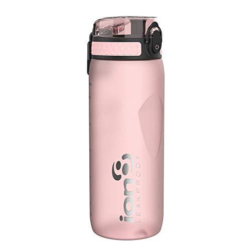 ion8 Auslaufsichere Trinkflasche Fahrrad, BPA-frei, 750ml, Rose