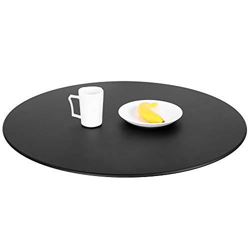 Robasiom Mantel redondo, 120 cm, impermeable, elástico, lavable, para el hogar, fiestas, vacaciones, cena, boda, restaurante (negro)