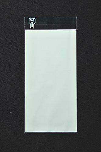印刷OPP袋 長3 【500枚】 50μ(0.05mm) 表:グリーンベタ 切手/筆記可 静電気防止処理テープ付き 折線付き 横120×縦235+フタ30mm