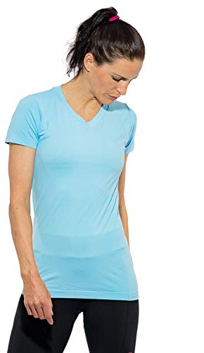 Sundried Frauen weltweit erste biologisch abbaubare Sport-T-Shirt für Fitness Jogging Fitness Workouts Yoga Top Eco Friendly (blau, S)