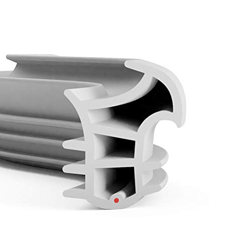 DIWARO.® Stahlzargen-Dichtung SZ309 | grau, weiß und schwarz | 5 lfm für Haus- und Innentüren. Zum Schallschutz und abdichten der Tür. Bestehend aus TPE (Thermoplastischen Elastomer) (grau)