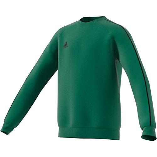 adidas Kinder Core 18 Sweat Top Sweatshirt, bold green/Black, L (Manufacturer size:152)